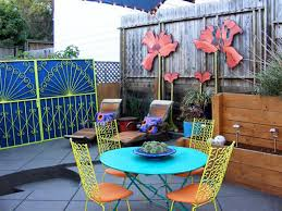 Painting A Cement Patio by Transforming Patios With Paint And Colorful Accents Diy