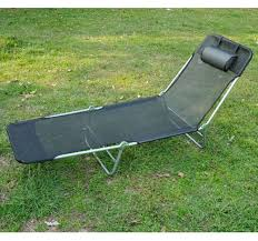 Beach Lounger Outsunny Adjustable Reclining Beach Sun Lounge Chair Black