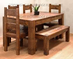 Rustic Kitchen Tables Rustic Dining Tables With Benches Roselawnlutheran