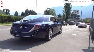 rolls royce racing see the rolls royce sweptail glide through the streets of france