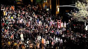 halloween party in new york city new york city halloween parade thriller 2015 youtube