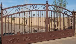 iron gates fences rv gates ornamental wrought iron rod