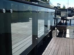 custom standoffs for glass deck rail infill panels ot glass