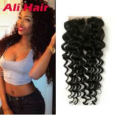 sew in with lace closure indian sew in weave lace closure wave middle three part