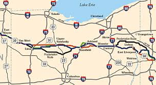 ohio on us map could us 30 in ohio become a toll road lincoln highway news