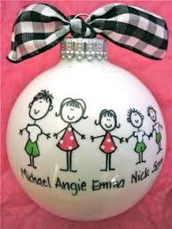 Custom Made Christmas Ball Ornaments by Best 25 Personalized Family Christmas Ornaments Ideas On