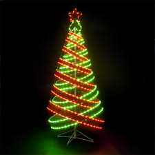 green spiral lighted tree shining spiral christmas tree led blue green lighted outdoors lights