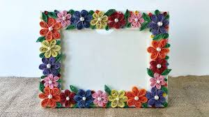 how to create a colorful floral photo frame diy crafts tutorial
