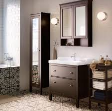Ikea White Bathroom Cabinet hemnes bathroom ikea in white with the dressin g table between