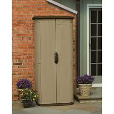 Patio Storage Cabinets Suncast Vertical Shed U2014 20 Cu Ft Model Bms1500 Resin Sheds