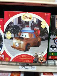 Holiday Blow Up Decorations Tow Mater Christmas Blow Up My Kids Love It Christmas