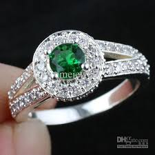 wedding band for women women green emerald wedding band ring silver ring size 6 wed j8035