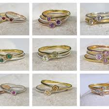 birthstone rings for mothers sale birthstone ring stack ring mothers from belesas rings