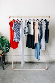 leaning garment rack diy u2014 designcomb