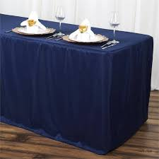event cocktail tables wholesale 6ft fitted polyester table cover banquet tablecloth navy blue
