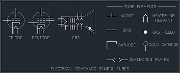 electrical schematic symbol tubes free cad block and autocad