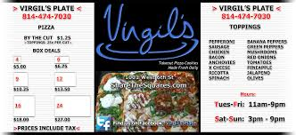 virgil u0027s plate the best pizza in erie