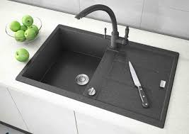 Black Kitchen Sinks Countertops And Faucets  Ideas Adding - Black granite kitchen sinks