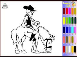 cowboy coloring pages for kids cowboy coloring pages youtube