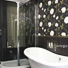 modern glamour bathroom wallpaper picsdecor com