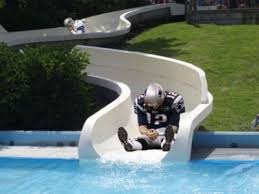 Tom Brady Waterslide Meme - get over yourself tom brady it s a waterslide hilarious stuff