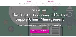 Now Open For Supply Chain Open Course The Digital Economy Armacad