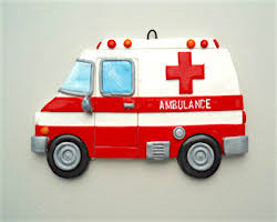 personalized ambulance ornament ornament helzer s creations