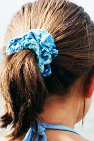 hair scrunchie and of course you had to a scrunchie in every color to match