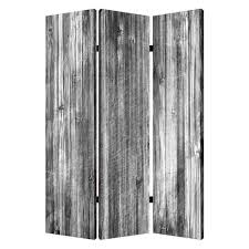 Room Dividers At Home Depot - distressed wood canvas 6 ft gray 3 panel room divider sg 180
