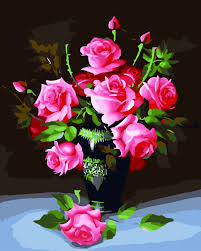 3d pink rose cross stitch kits diy sets cross stitch kit craft