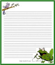 printable animal lined paper 25 best pond river images on pinterest crafts for kids kids