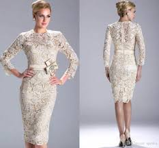 2015 fashion wedding style dress mother of bride knee length 3 4