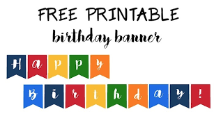 happy birthday banner free printable u2013 paper trail design inside