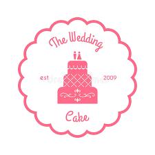 wedding cake logo the wedding cake logo vector illustration on white stock vector