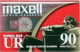maxell cassette normal bias ur 90 minute audio cassette