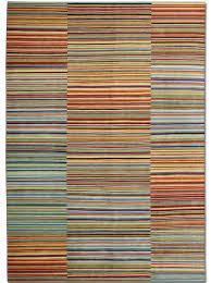 Harlequin Rug Contemporary Rug Striped Wool Rectangular Harlequin