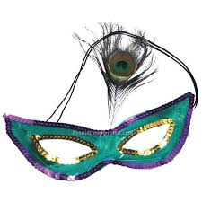 peacock mardi gras mask mardi gras sequin mask with peacock feathers china wholesale