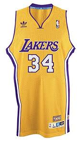 amazon com shaquille o u0027neal los angeles lakers gold throwback