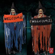 halloween hanging ghost witch decorations eyes bright scary sound