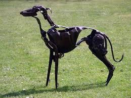 sculpture kipper scrap metal found objects lurcher yard garden