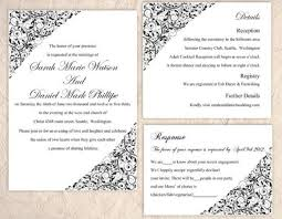 wedding invites templates diy wedding invitation template set editable word file instant