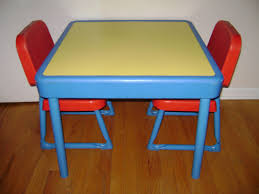 fisher price table chairs vintage fisher price child size table 2 chairs preschool arts