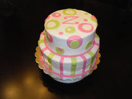 jessica u0027s cakealicious cakes pink and lime green baby shower cake