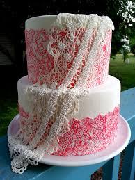 wedding cake no fondant simple lace wedding cake cakecentral