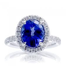 rings with tanzanite images Oval tanzanite diamond halo drenched basket engagement ring JPG