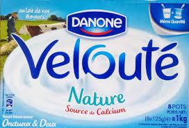 8 Pots by Velouté Nature 8 Pots Danone 1 Kg 8 X 125 G