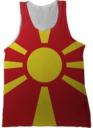 Flag Of Macedonia Europe Flag Tank Tops Nation Tanks