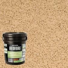 rust oleum restore 4 gal sandstone vertical liquid armor