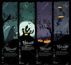Halloween Banners by Set Of Four Grunge Halloween Banners Standard Size Grim Reaper