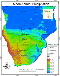 World Map Rainfall by Mean Annual Precipitation Gradient Map Of Southern Africa